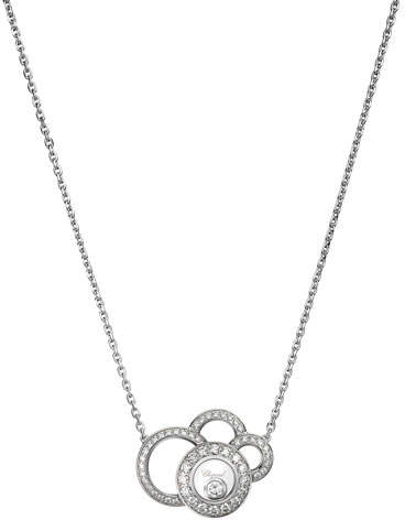 Chopard Happy Dreams Necklace with Diamonds in 18K White Gold