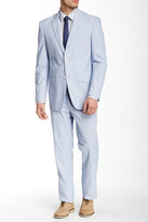U.S. Polo Assn. Blue and White Pincord Two Button Notch Lapel Modern Fit Suit