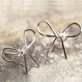Otis Jaxon Silver Jewellery Silver Bow Stud Earrings