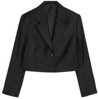 Arket Wool Flannel Cropped Blazer