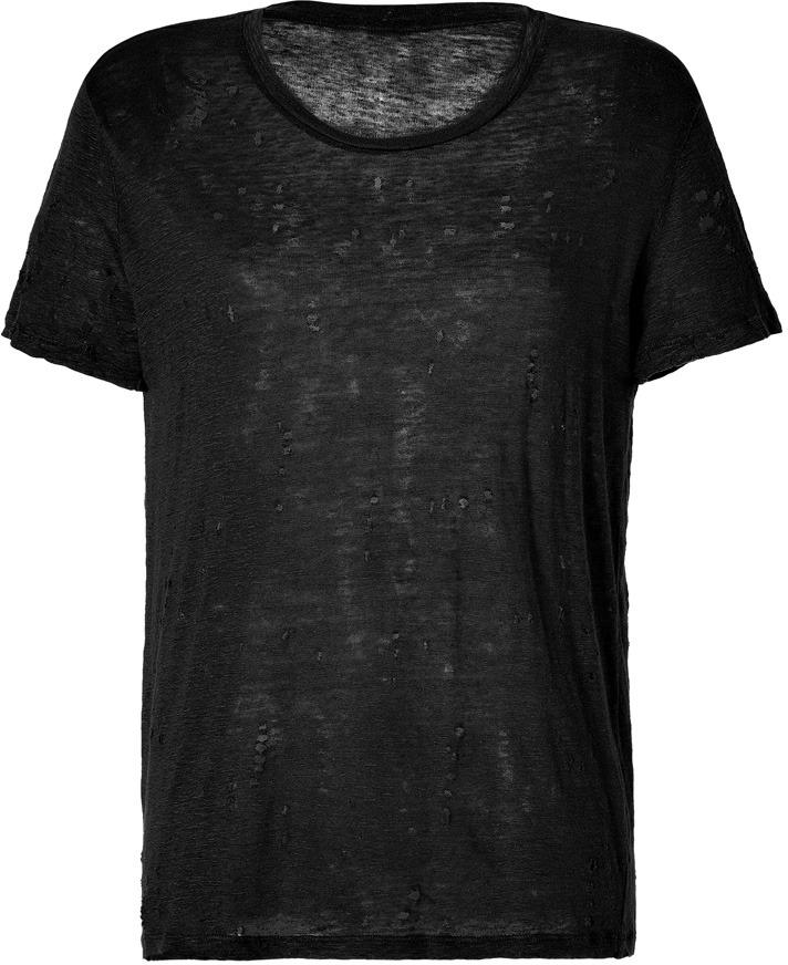 IRO T-shirt Destroy Lin Noir