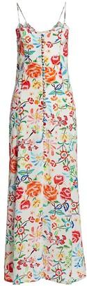 All Things Mochi Melissa Floral Silk Maxi Dress