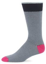 Saks Fifth Avenue Chevron-Printed Cotton-Blend Socks