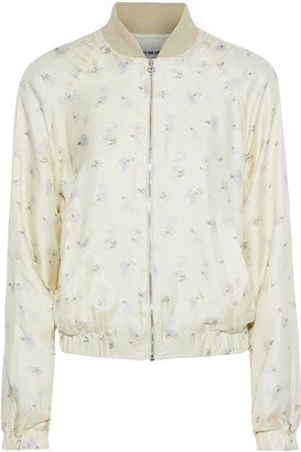 Elizabeth and James Jacque Floral-print Silk-twill Bomber Jacket