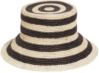 Sensi Striped Straw Bucket Hat