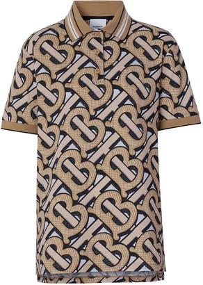 Burberry TB Monogram-print pique polo shirt