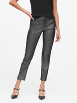 Banana Republic Petite Modern Sloan Skinny-Fit Metallic Plaid Pant
