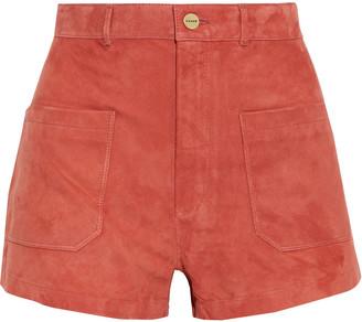 Frame Bardot Suede Shorts