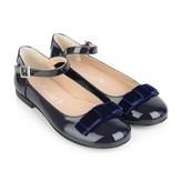 Armani Junior Armani JuniorGirls Navy Patent Ankle Strap Shoes