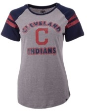 '47 Women's Cleveland Indians Fly Out Raglan T-shirt