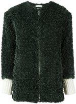 Etoile Isabel Marant 'Abril' faux fur jacket - women - Cotton/Polyester/Wool/Alpaca - 38