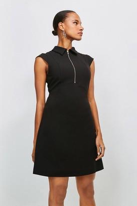Karen Millen Zip Collar A Line Dress