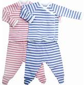 Under the Nile Classic Stripes Side Snap Layette Set in Rose Stripes Size: 1 - 3 Month