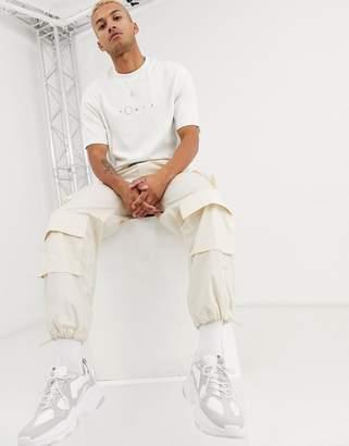 Asos wide leg cargo trousers in beige