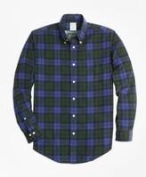 Brooks Brothers Milano Fit Black Watch Tartan Pinwale Corduroy Sport Shirt