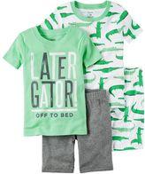Carter's Boys 4-8 Alligator 4-Piece Pajama Set