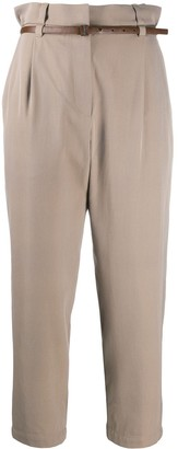 Brunello Cucinelli Cropped High-Waisted Trousers