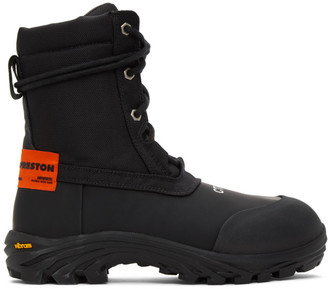 Heron Preston Black and Orange Security Boots
