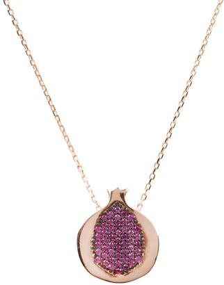 Latelita Pomegranate Hidden Gems Necklace Rosegold