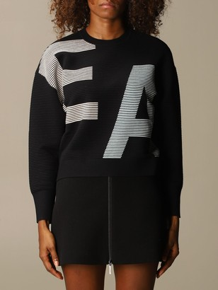 Emporio Armani Sweater Sweater In Ribbed Fabric With Big Logo