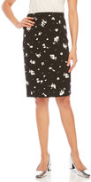 Vince Camuto Floral Midi Skirt