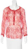 Etoile Isabel Marant Silk Abstract Print Top
