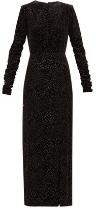 Raquel Diniz Lucy Starry Sky Glitter Polka-dot Velvet Dress - Black Silver