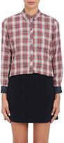 "Current/Elliott Women's ""The Slim Boy Shirt""-RED"