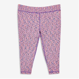 Joe Fresh Kid Girls' Active Crop Legging, Light Navy (Size M)