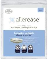 Household Essentials AllerEase 2-in-1 Hot Water Washable Allergy Protection Mattress Pad