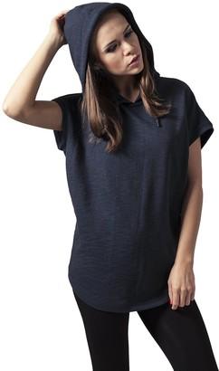 Urban Classics Women's Ladies Melange Sleeveless Terry Hoody Sweater
