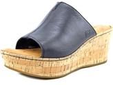 Børn Aria Women Open Toe Leather Wedge Sandal.