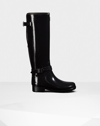 Hunter Women's Refined Slim Fit Adjustable Tall Gloss Wellington Boots