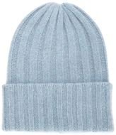 The Elder Statesman cashmere ribbed knit hat
