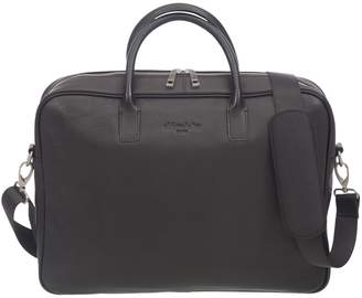 Club Rochelier Leather Top Handle Messenger Briefcase