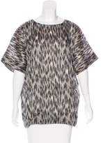 Yigal Azrouel Jacquard Short Sleeve Top w/ Tags