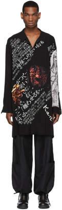 Yohji Yamamoto Black and White Cheetah Shirt