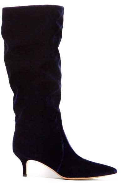 7aa7ab4815f Slouchy 55 Velvet Boots - Womens - Navy