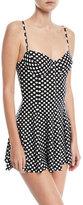 Norma Kamali Dot-Print Underwire Swim Dress