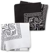 Merona Men's Bandana Handkerchief Black/White One Size
