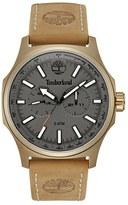 Timberland 'Shermand' Multifunction Leather Strap Watch, 56Mm