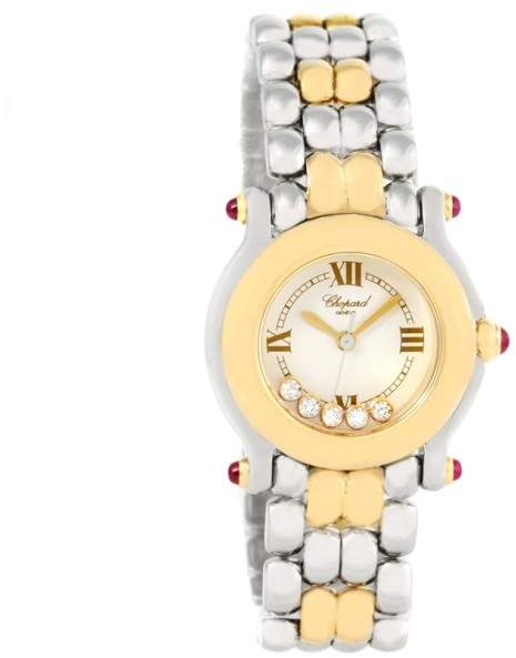 Chopard Happy Sport 27/8278 Stainless Steel/18K Yellow Gold Floating Diamonds 26mm Womens Watch