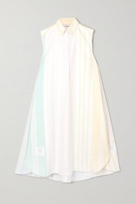 Thom Browne Striped Cotton Oxford Dress - Ivory