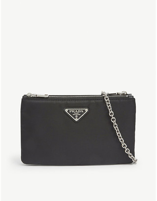 Prada Logo-applique nylon cross-body bag