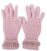 Blugirl Women's Pink Wool Gloves.