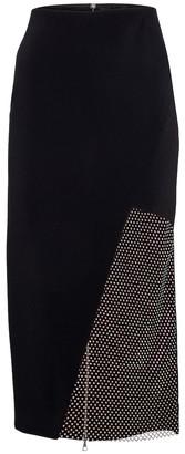 David Koma Crystal-embellished cady pencil skirt