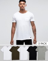 Brave Soul 5 Pack T-shirt