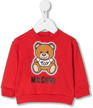 MOSCHINO BAMBINO Teddybear long sleeve sweatshirt