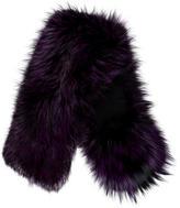 Etro Purple Fox Stole