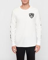 Express Brooklyn Nets Nba Long Sleeve Graphic T-Shirt